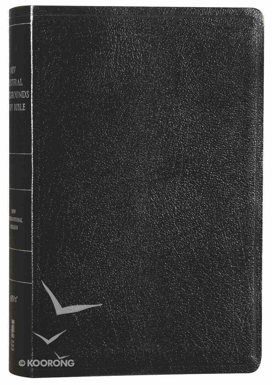 NIV Cultural Backgrounds Study Bible Black Red Letter Edition Bonded Leather