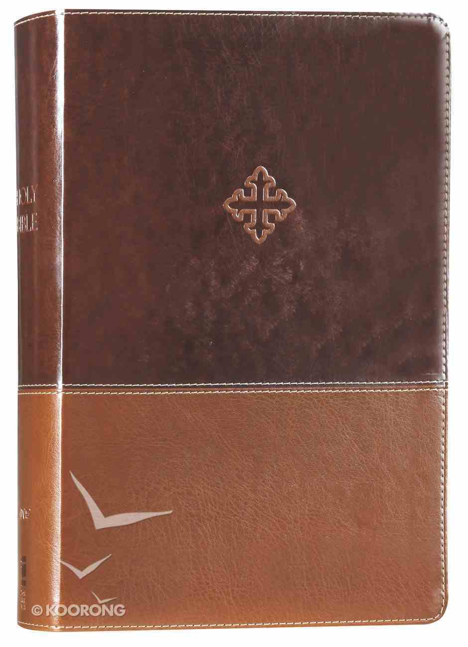 Amplified Study Bible Brown (Black Letter Edition) Premium Imitation Leather