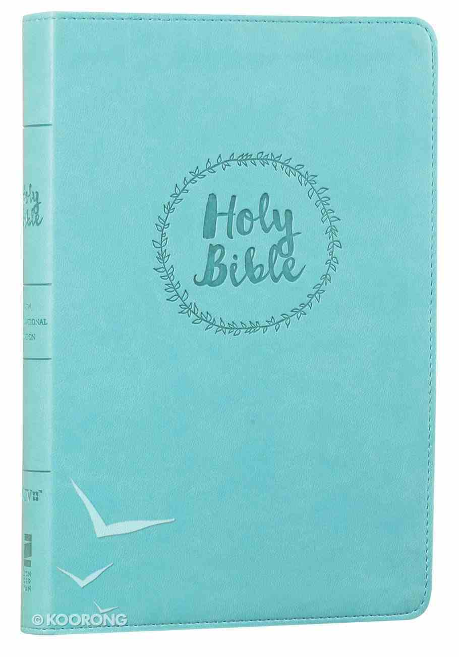 NIV Value Thinline Large Print Bible Blue (Black Letter Edition) Imitation Leather