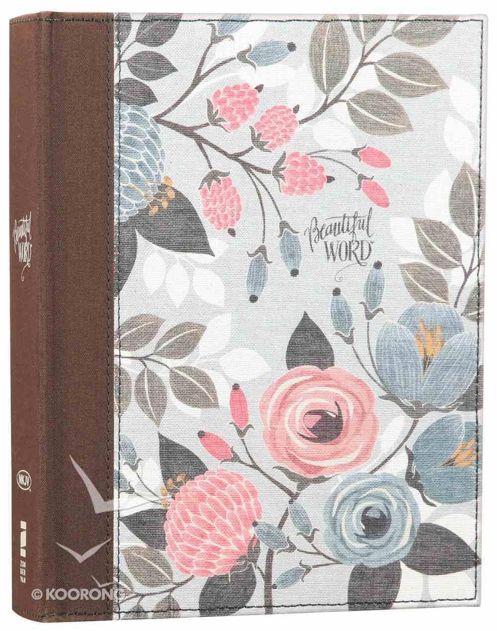NKJV Beautiful Word Bible Floral (Red Letter Edition) Hardback