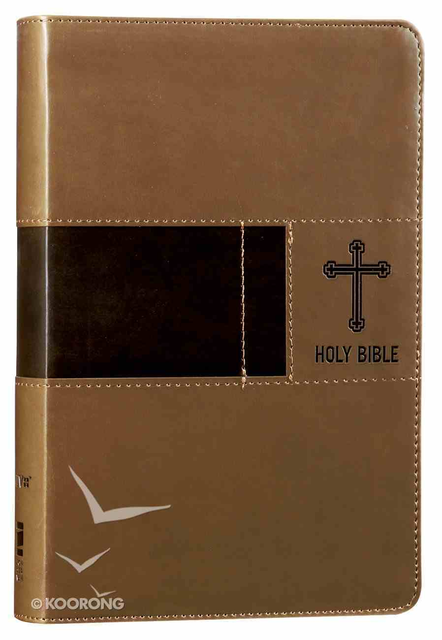 NIV Gift Bible Brown (Red Letter Edition) Premium Imitation Leather