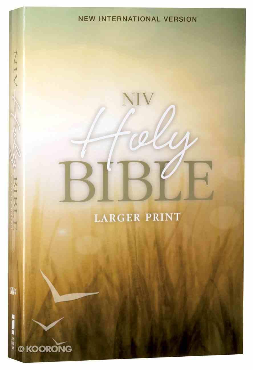 NIV Holy Bible Larger Print Nature (Black Letter Edition) Paperback