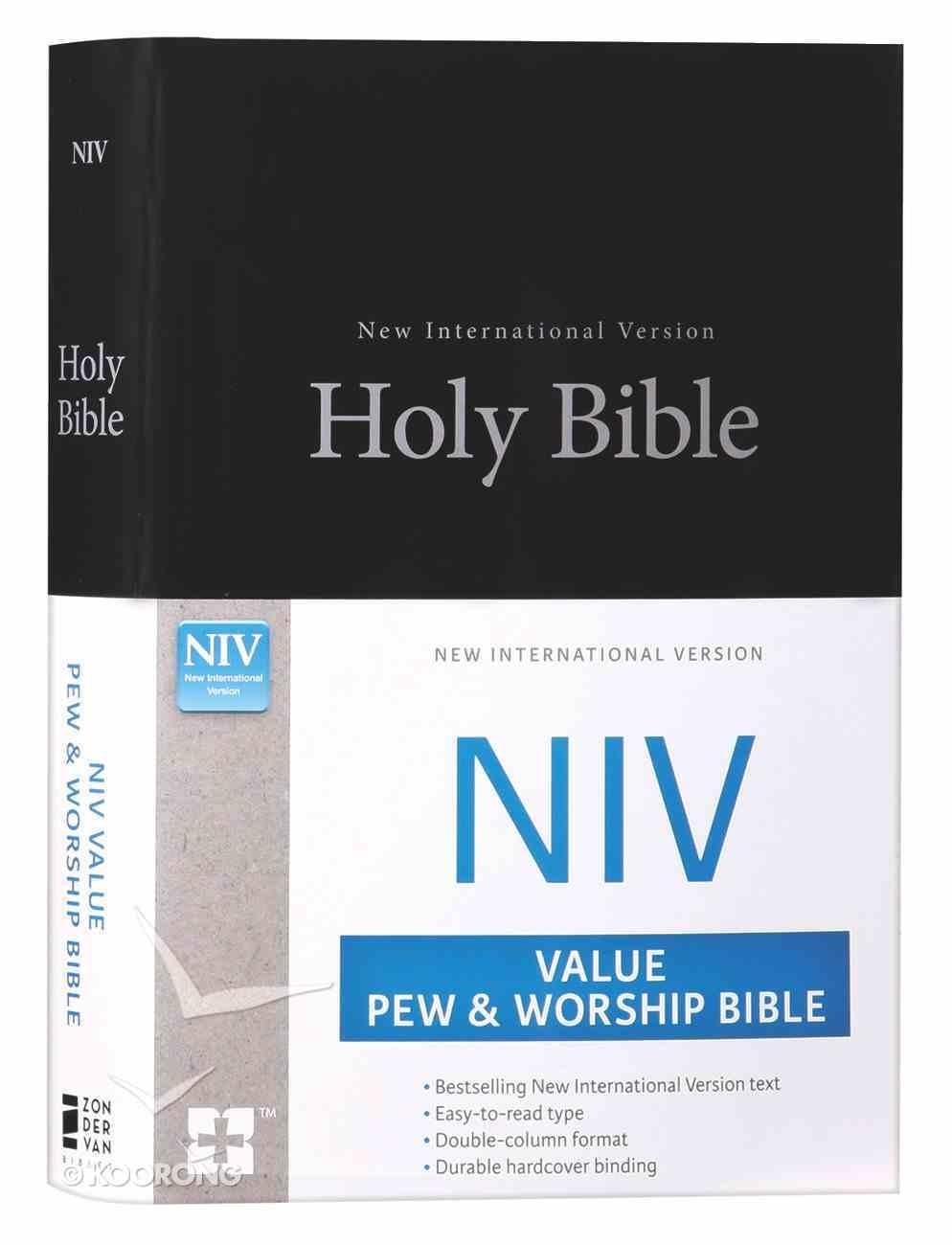 NIV Value Pew and Worship Bible Black (Black Letter Edition) Hardback