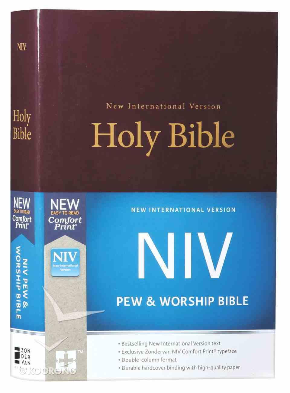 NIV Pew and Worship Bible Burgundy (Black Letter Edition) Hardback