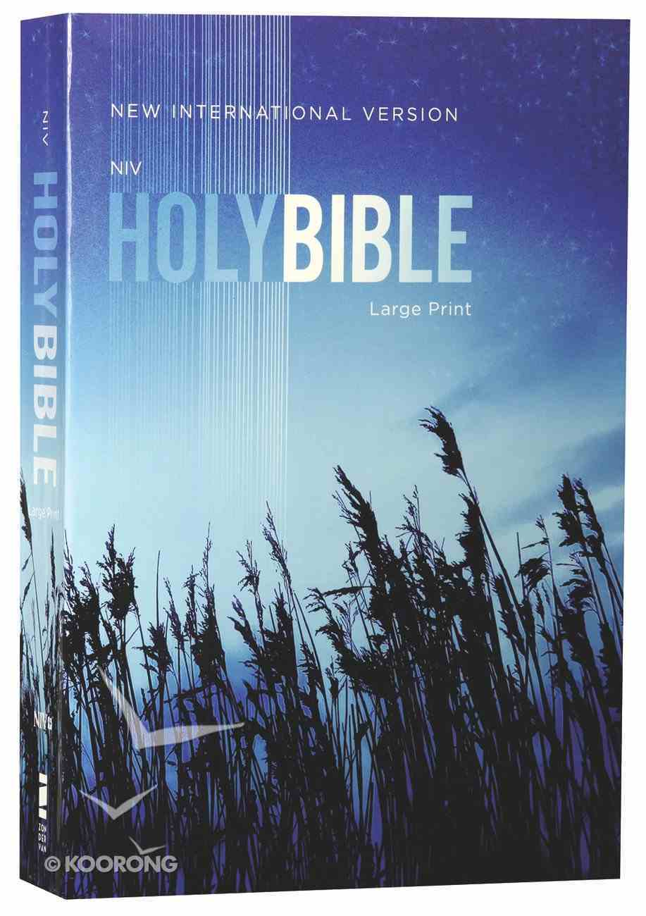 NIV Outreach Bible Large Print Blue Wheat (Black Letter Edition) Paperback