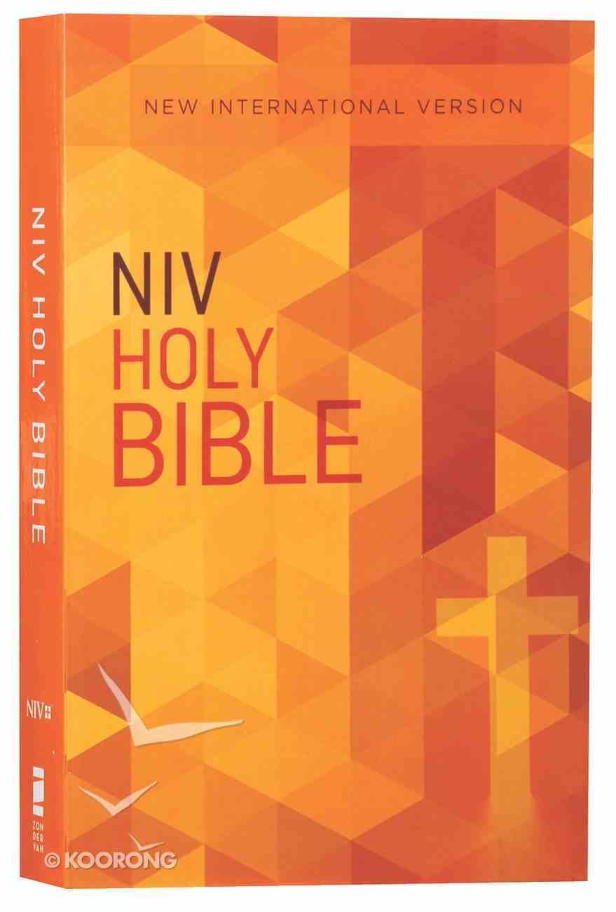 NIV Value Outreach Bible Orange Cross Geometric (Black Letter Edition) Paperback