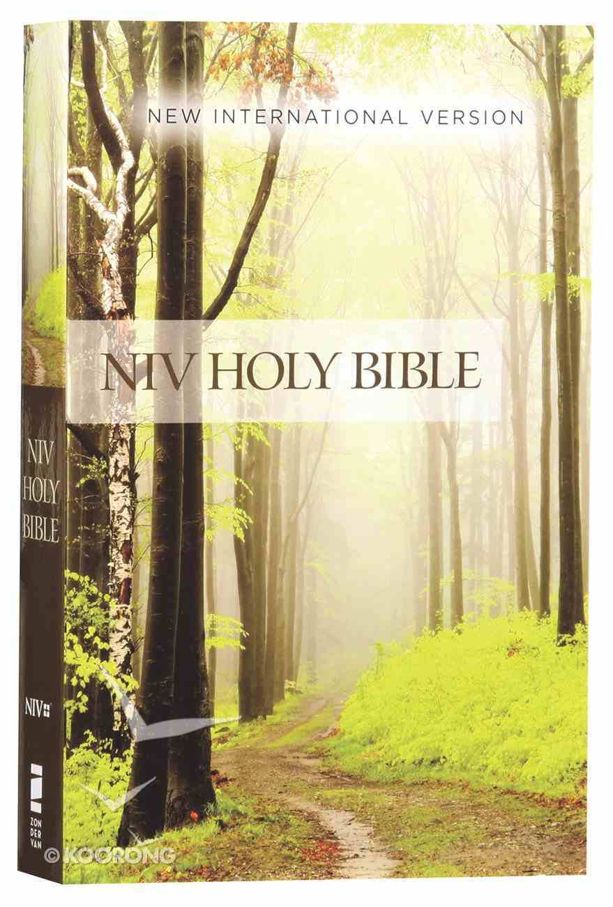 NIV Value Outreach Bible Green Forest Path (Black Letter Edition) Paperback