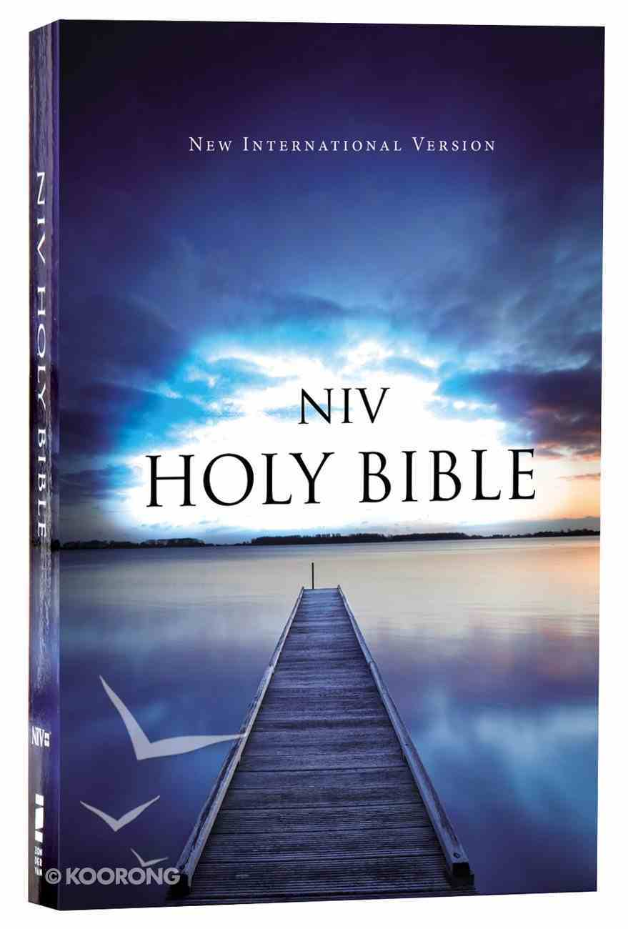 NIV Value Outreach Bible Blue Pier (Black Letter Edition) Paperback