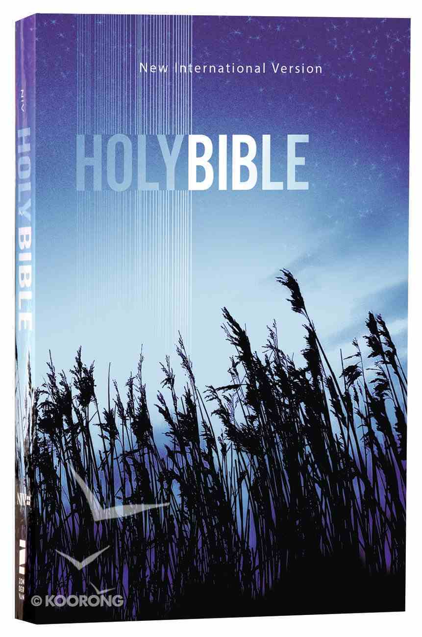 NIV Value Outreach Bible Blue Wheat (Black Letter Edition) Paperback