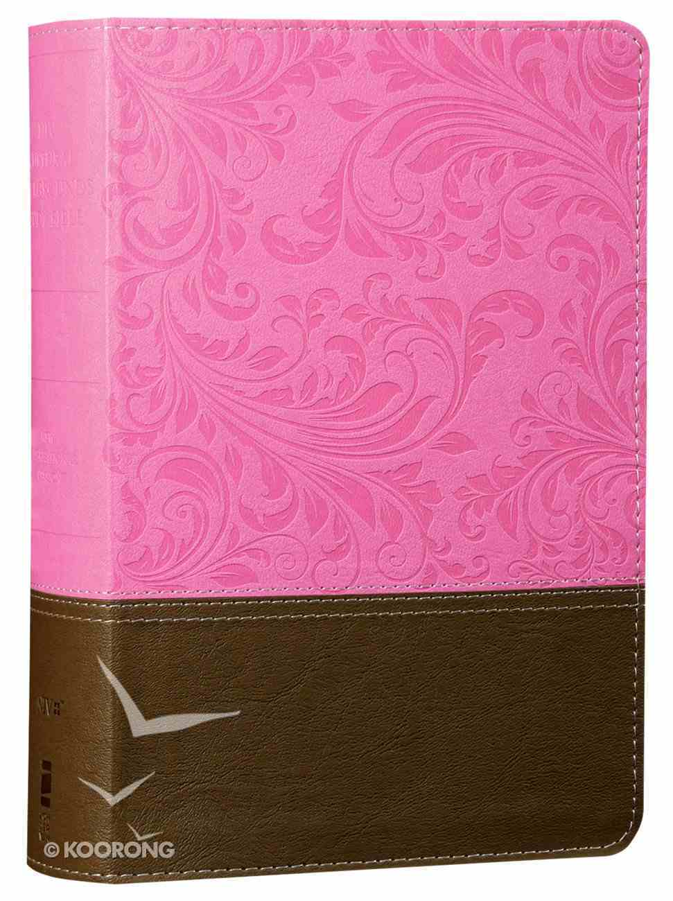 NIV Cultural Backgrounds Study Bible Personal Size Pink/Brown Red Letter Edition Premium Imitation Leather