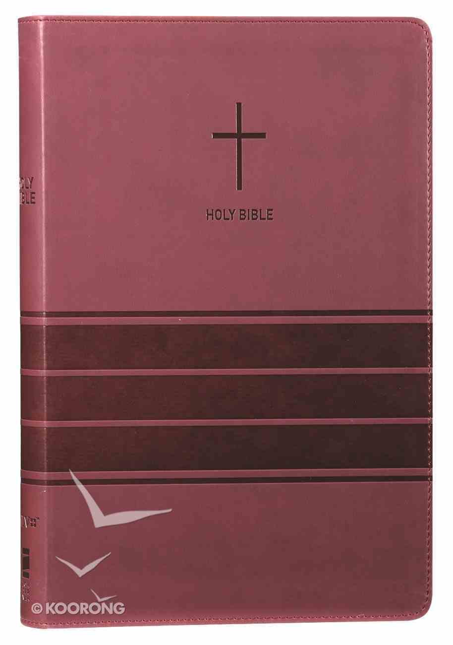 NIV Value Thinline Bible Large Print Burgundy (Black Letter Edition) Premium Imitation Leather