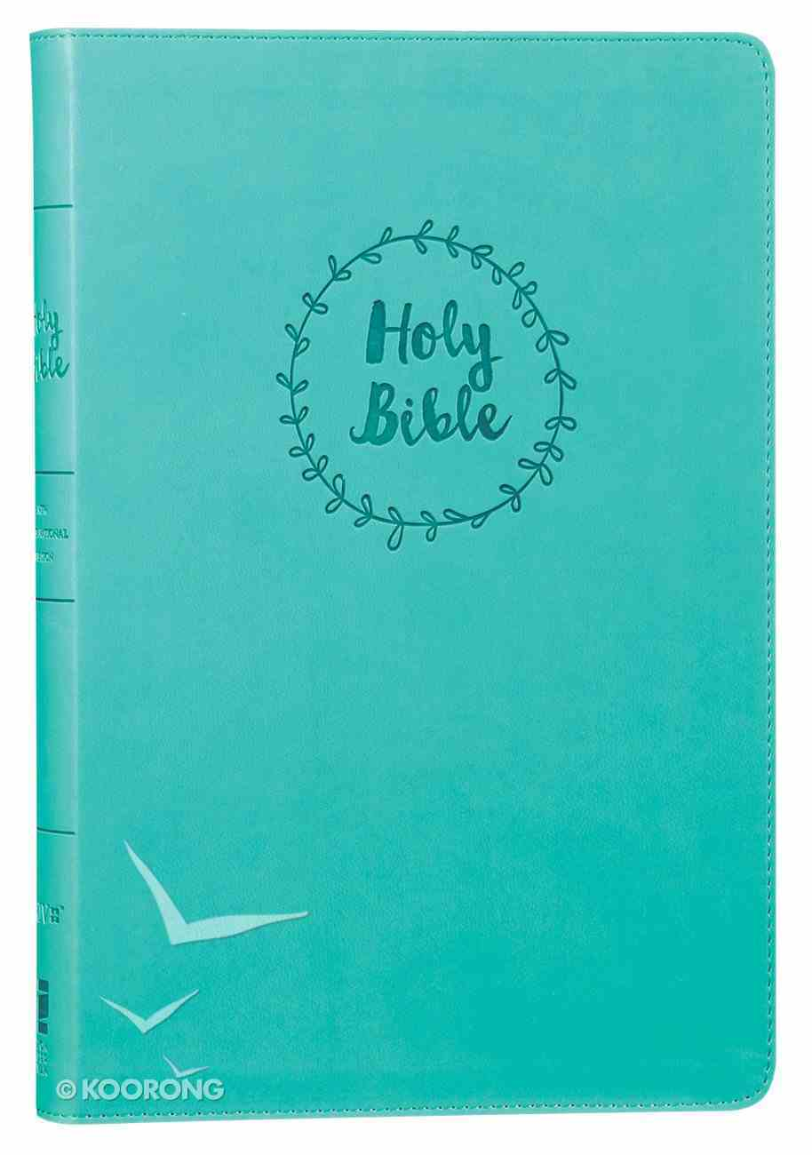 NIV Value Thinline Bible Large Print Blue (Black Letter Edition) Premium Imitation Leather