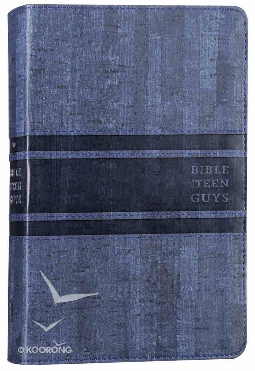 NIV Bible For Teen Guys Blue (Black Letter Edition) Premium Imitation Leather