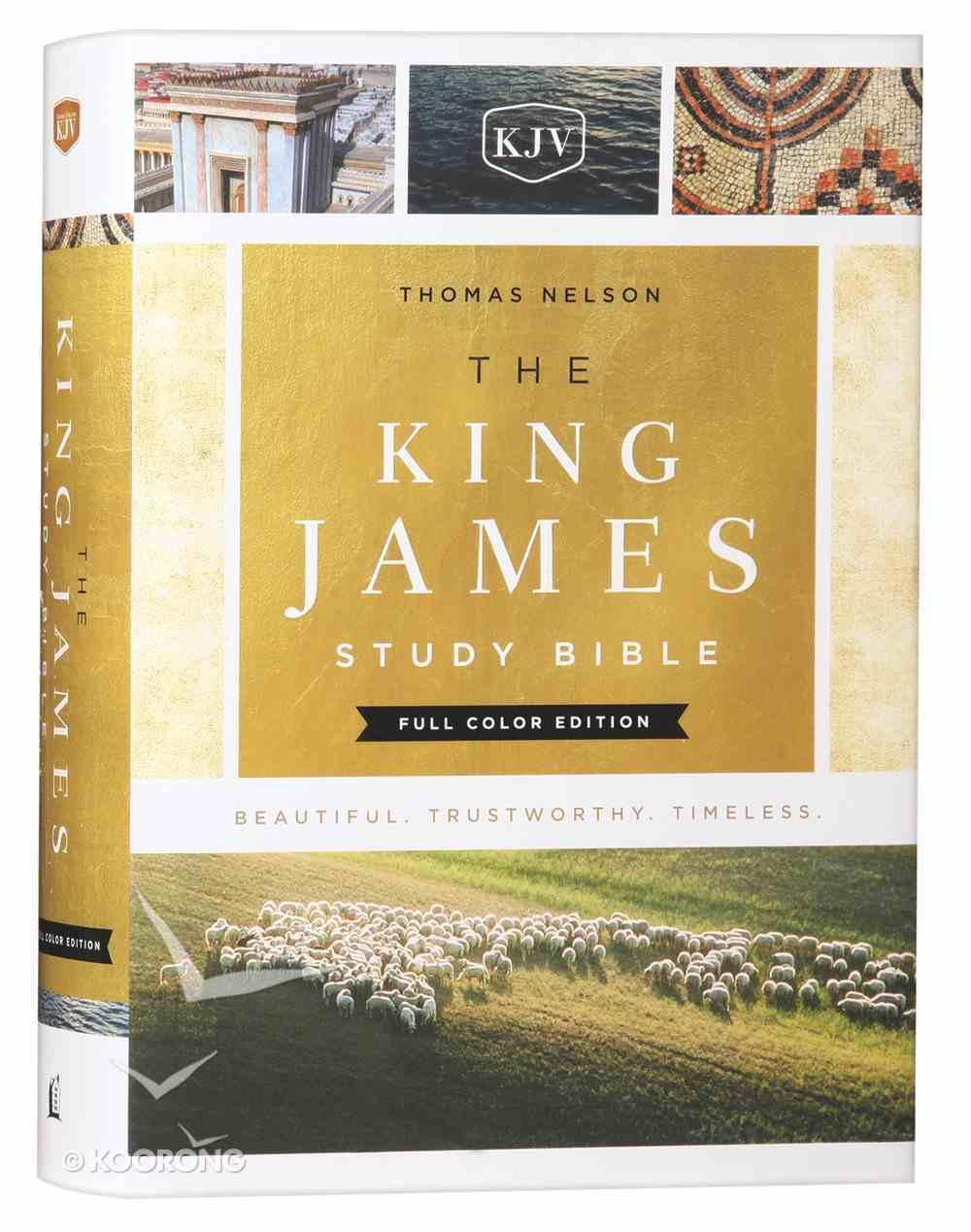KJV Study Bible Full-Color Edition (Red Letter Edition) Hardback