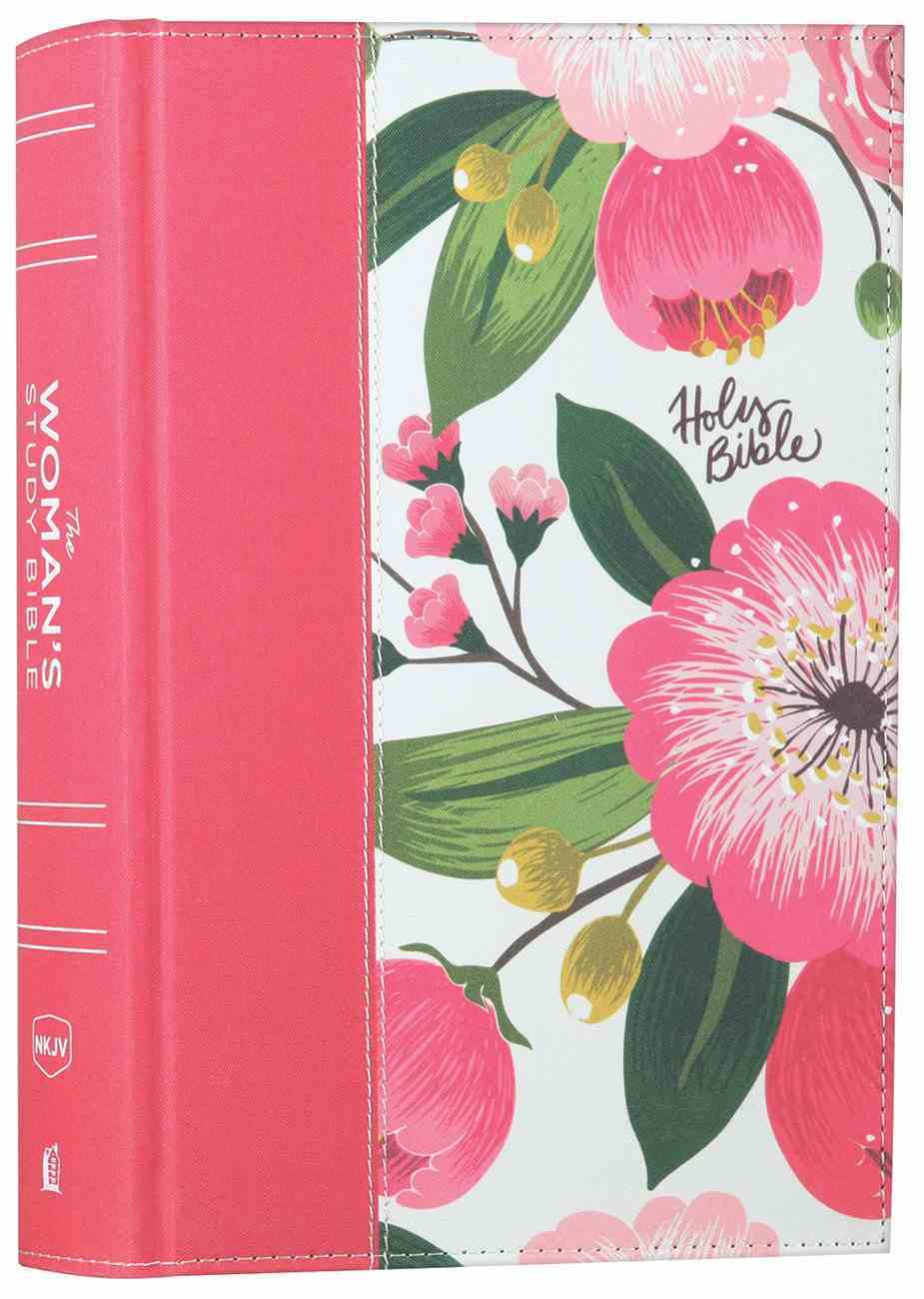 NKJV the Woman's Study Bible Pink Floral Full-Color Fabric Over Hardback