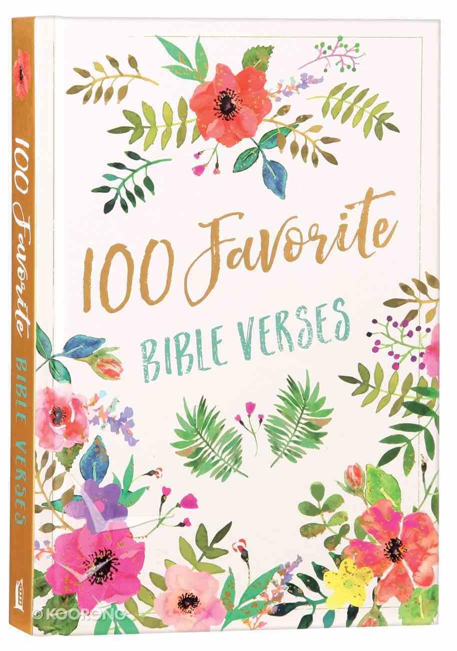 100 Favorite Bible Verses Hardback