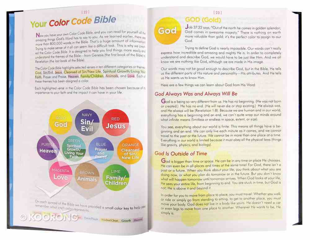 The NIV Color Code Bible Hardback