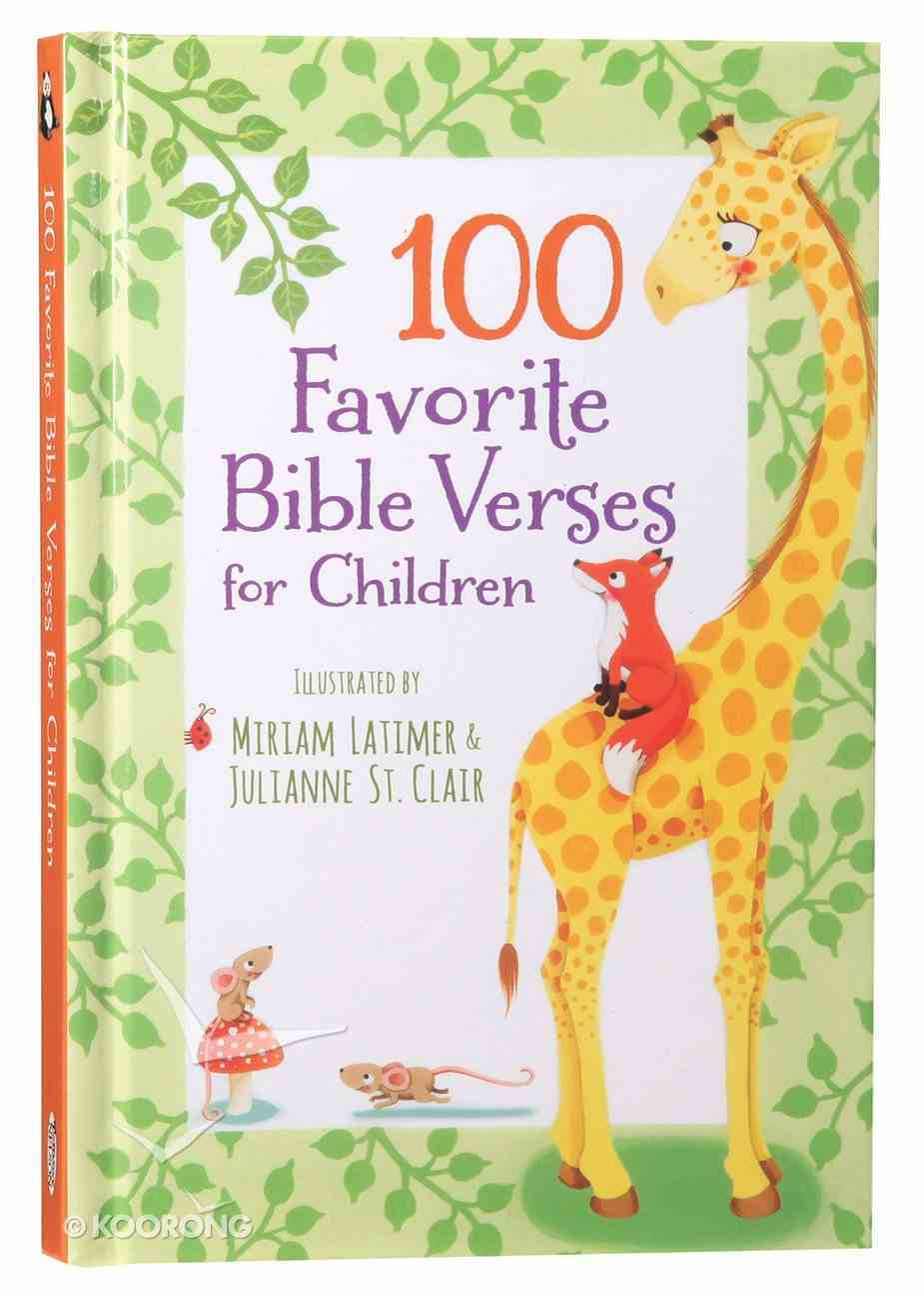 100 Favorite Bible Verses For Children Hardback