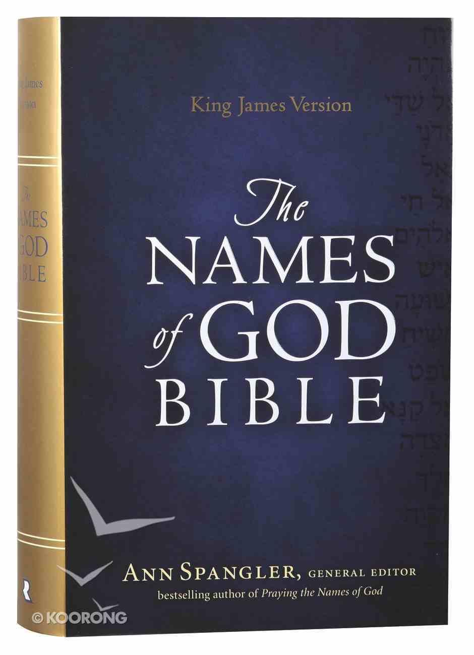 KJV Names of God Bible Hardcover Red Letter Edition Hardback