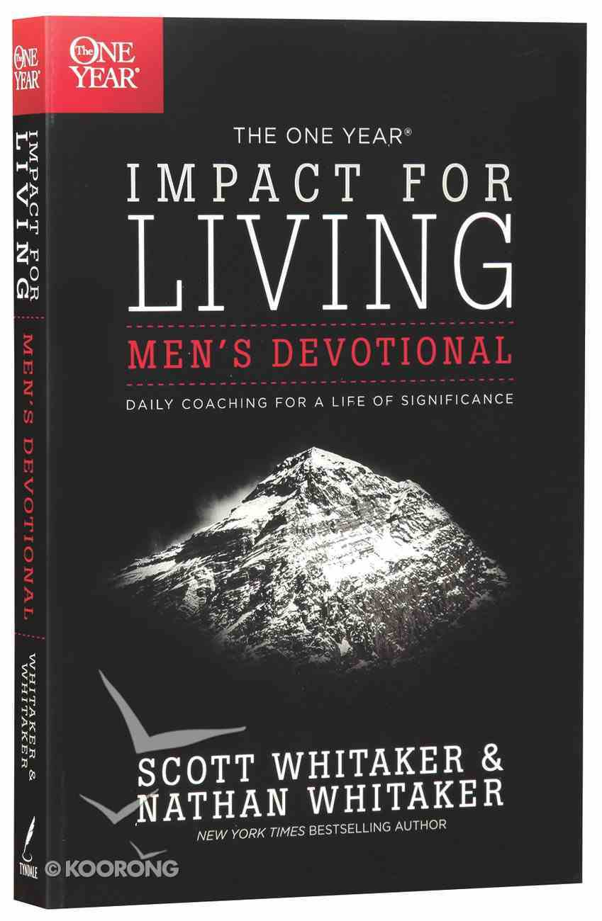 The One Year Impact For Living (Men's Devotional) Paperback