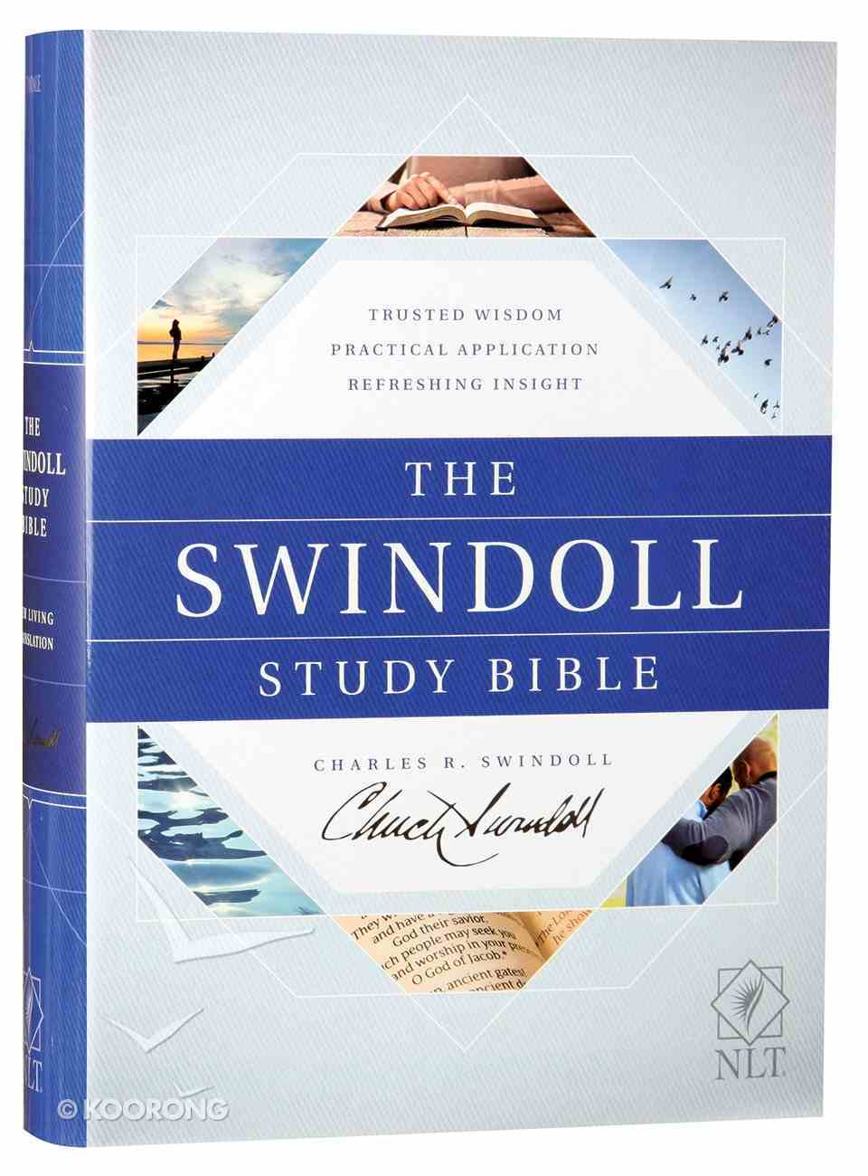 NLT the Swindoll Study Bible (Black Letter Edition) Hardback