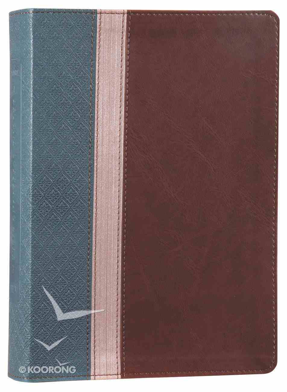 NLT Beyond Suffering Study Bible Teal/Rose Gold/Brown (Black Letter Edition) Imitation Leather