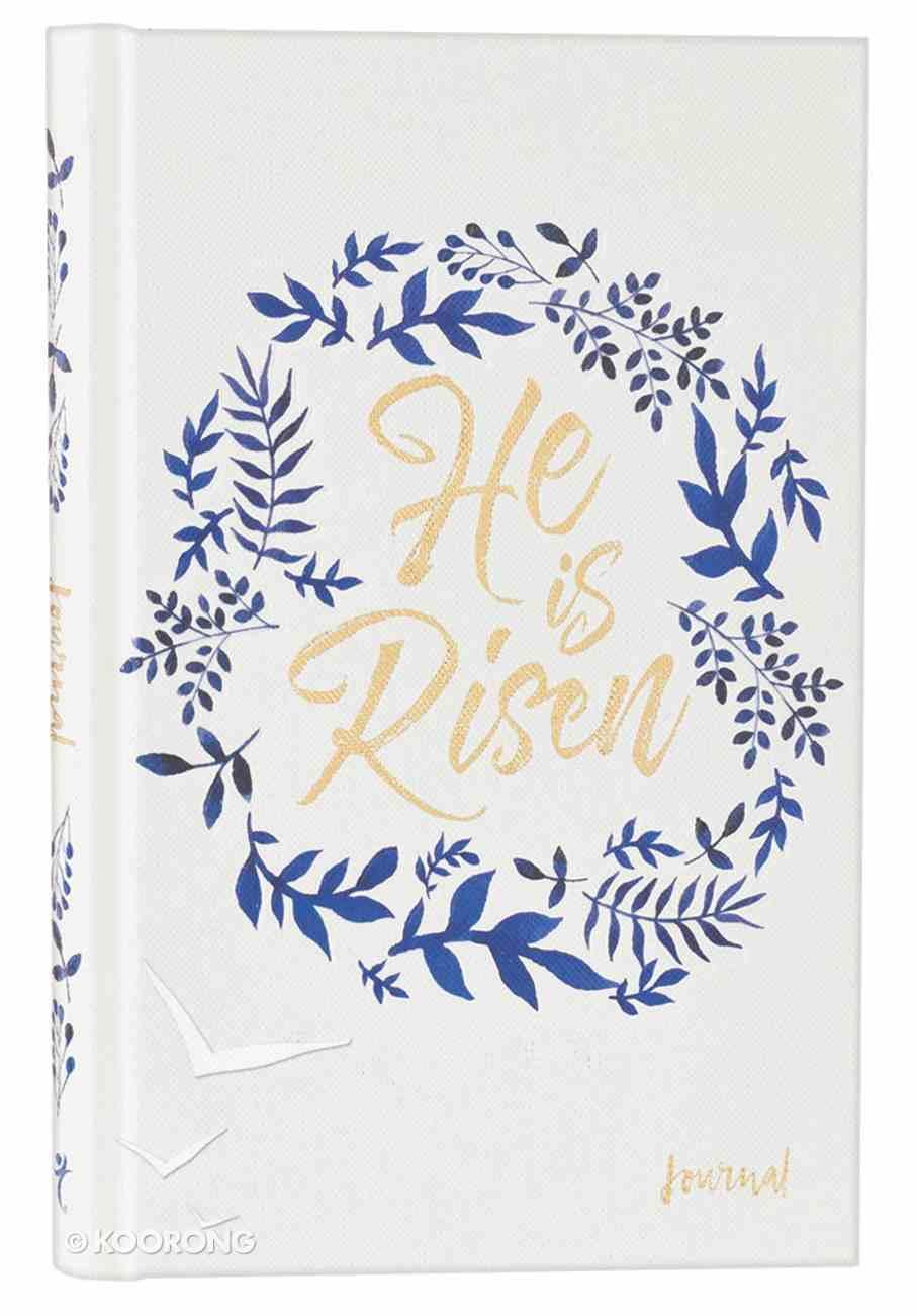 Journal: He is Risen, Blue/White/Gold Hardback