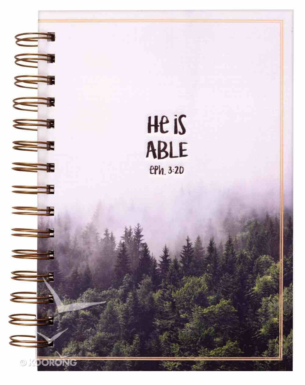 Wirebound Journal: He is Able (Eph 3:20) Spiral