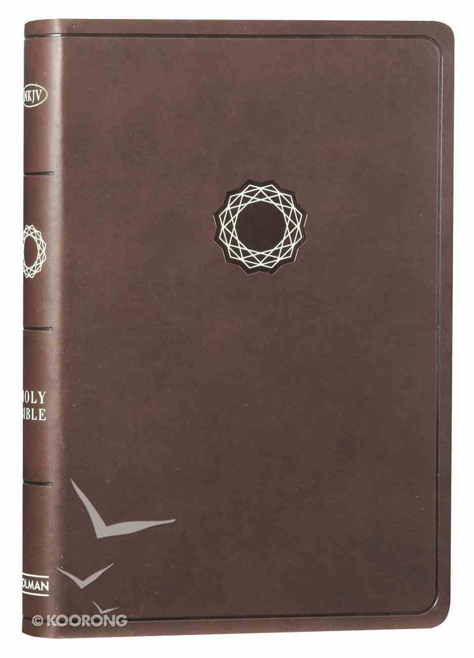 NKJV Deluxe Gift Bible Brown Imitation Leather