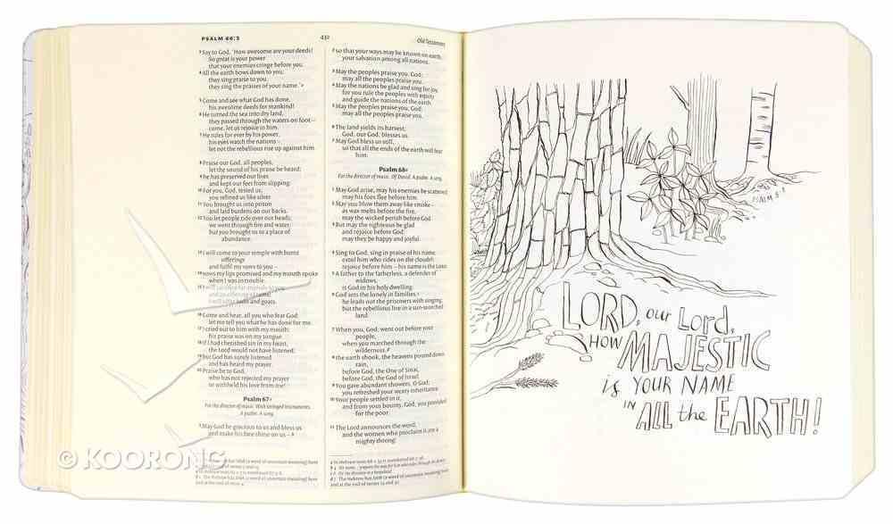 NIV Journalling Bible For Colouring in Hardback
