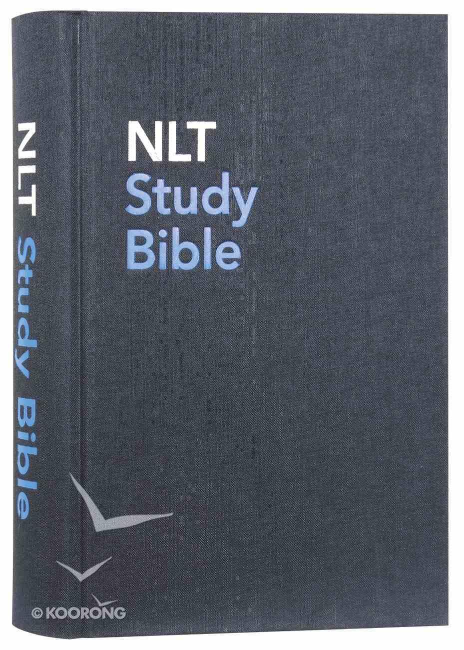 NLT Study Bible Indexed Blue (Red Letter Edition) Hardback
