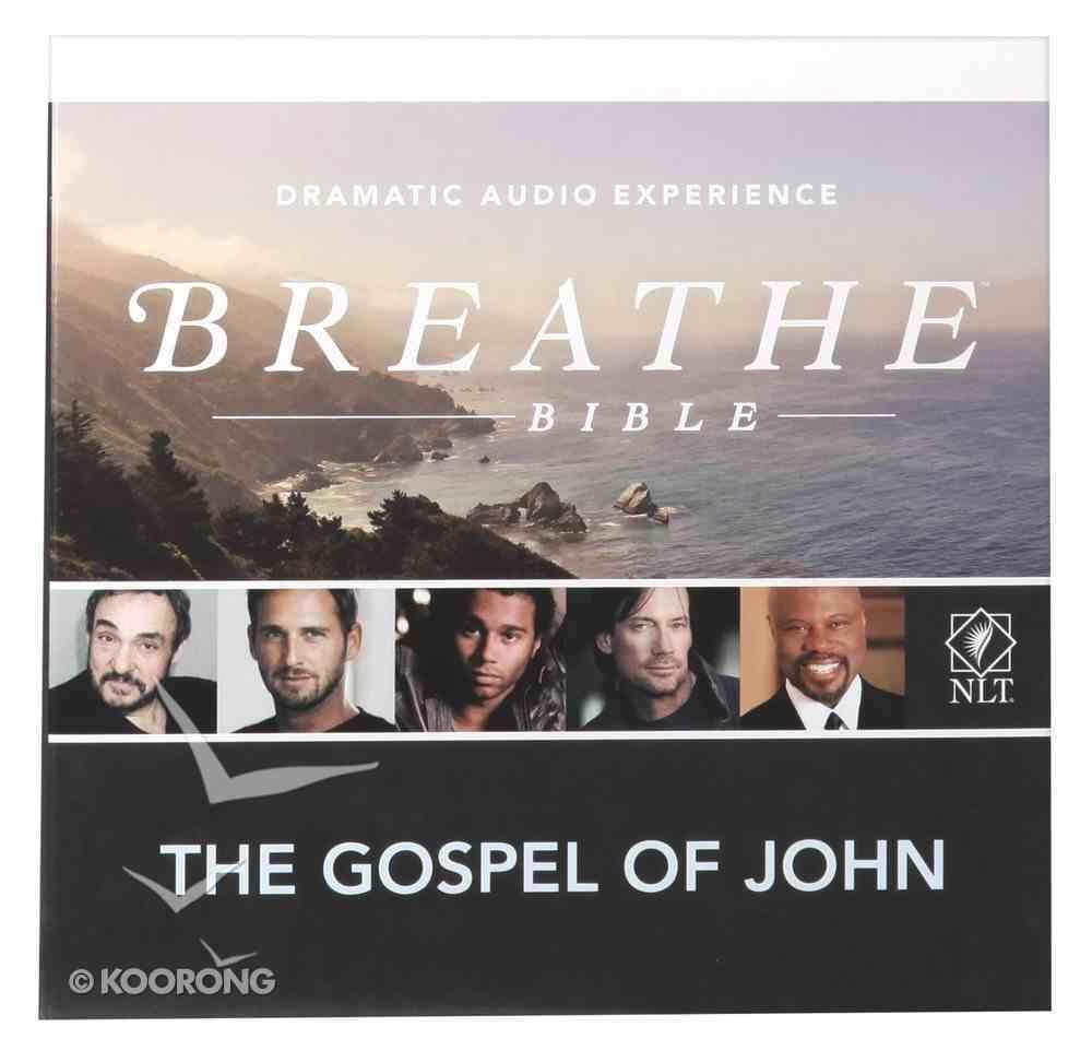 NLT Breathe Audio Bible Gospel of John (2 Cds) CD