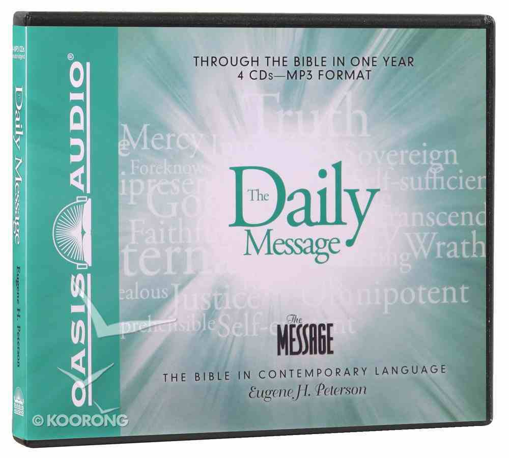 Daily Message: Through the Bible in One Year MP3 (Unabridged) CD