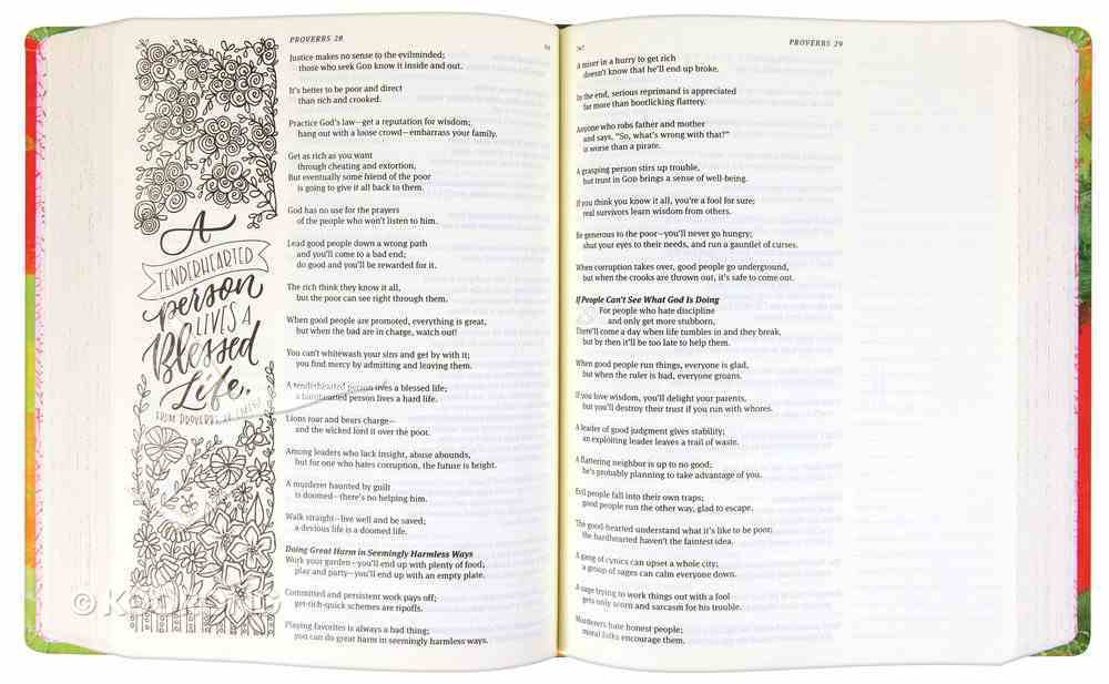 Message Canvas Bible: Coloring and Journaling the Story of God (Black Letter Edition) Hardback