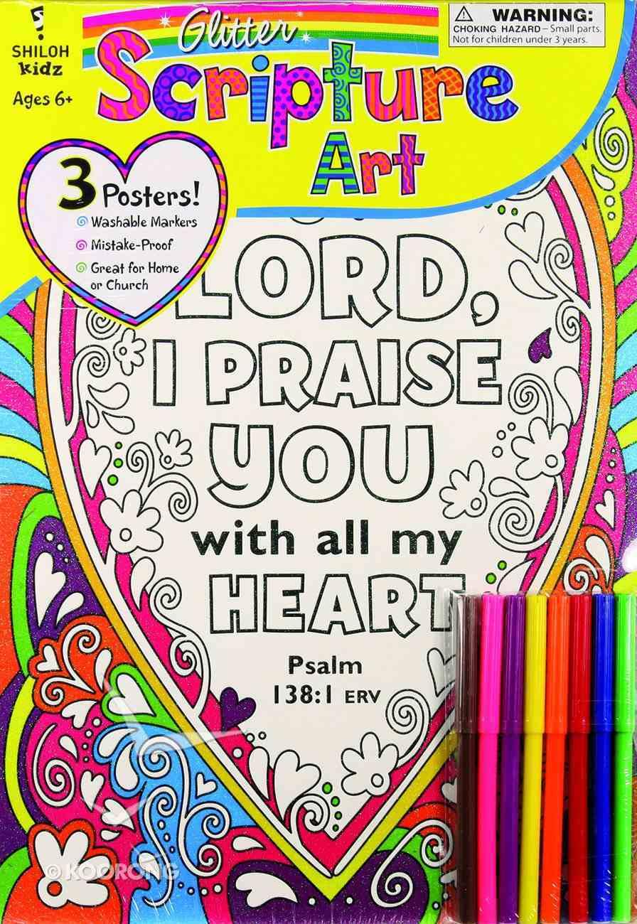 Glitter Scripture Art Poster Set (Incl Pencils) Poster