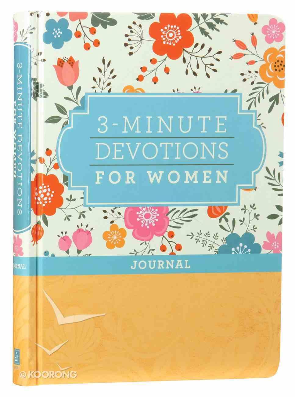 3-Minute Devotions For Women Journal Hardback