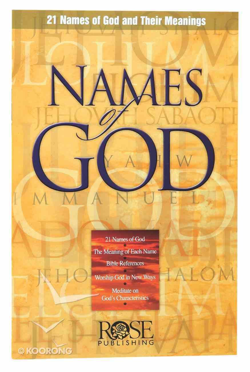 Names of God (Rose Guide Series) Booklet