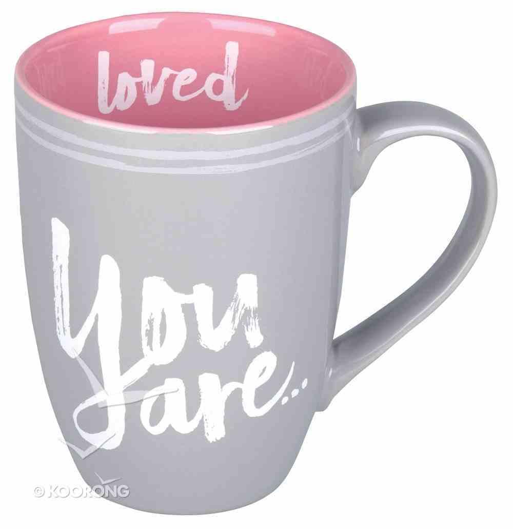 Ceramic Mug: You Are Loved, Pink/Gray (Psalm 23:6) Homeware