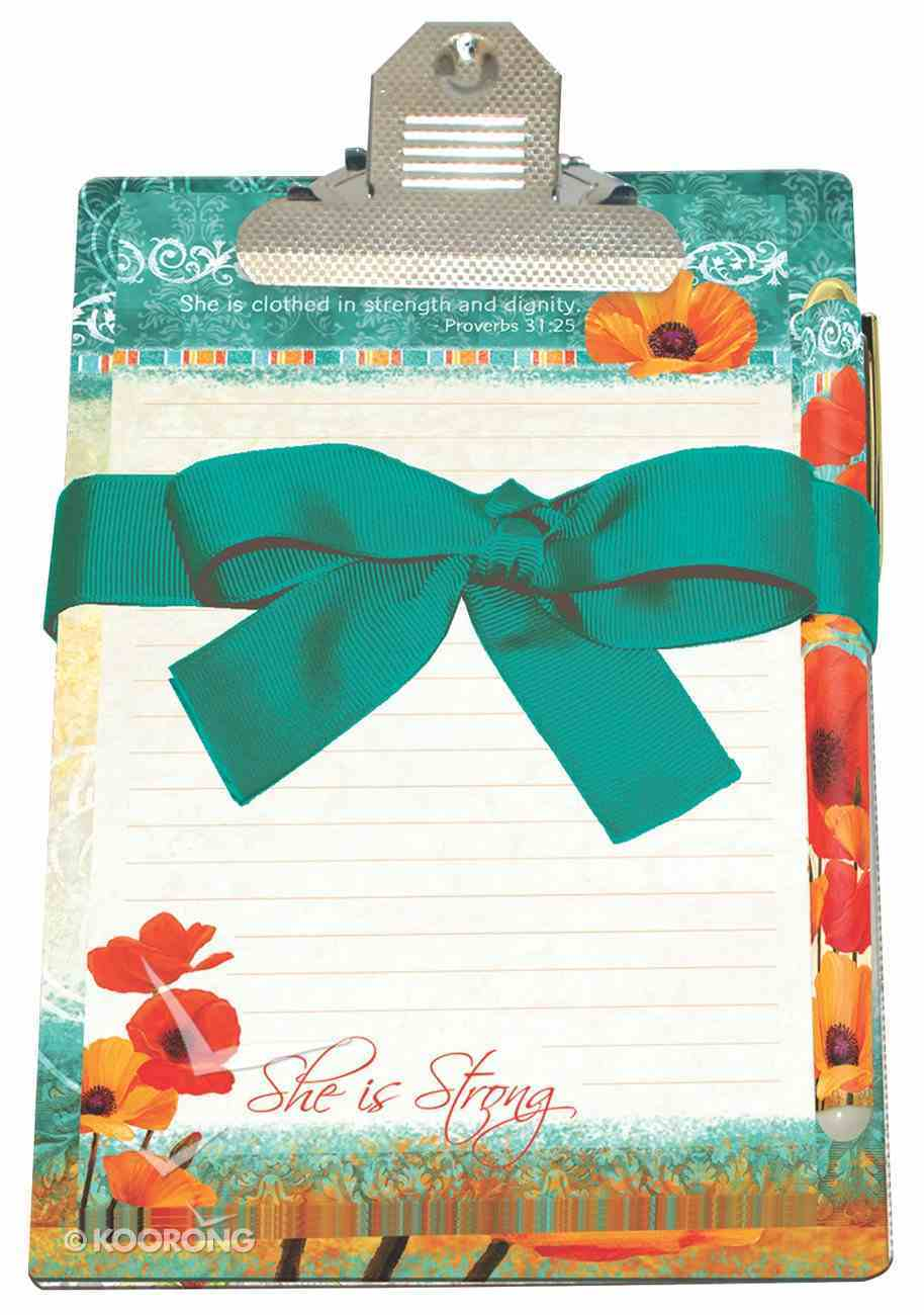 Poppies: Clipboard Giftset, She is Strong Stationery