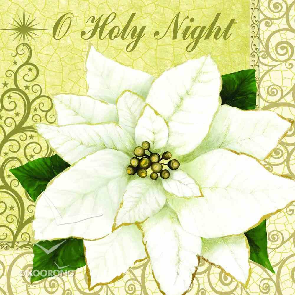 Christmas Napkins: O Holy Night, White Poinsettia Homeware