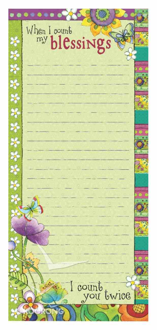 Magnetic Notepad: When I Count My Blessings, I Count You Twice Stationery