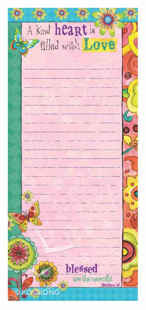 Magnetic Notepad: A Kind Heart is Filled With Love Stationery
