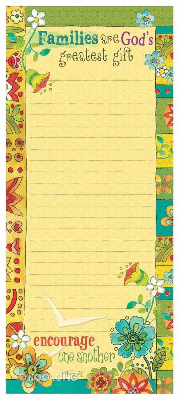 Magnetic Notepad: Families Are God's Greatest Gift Stationery