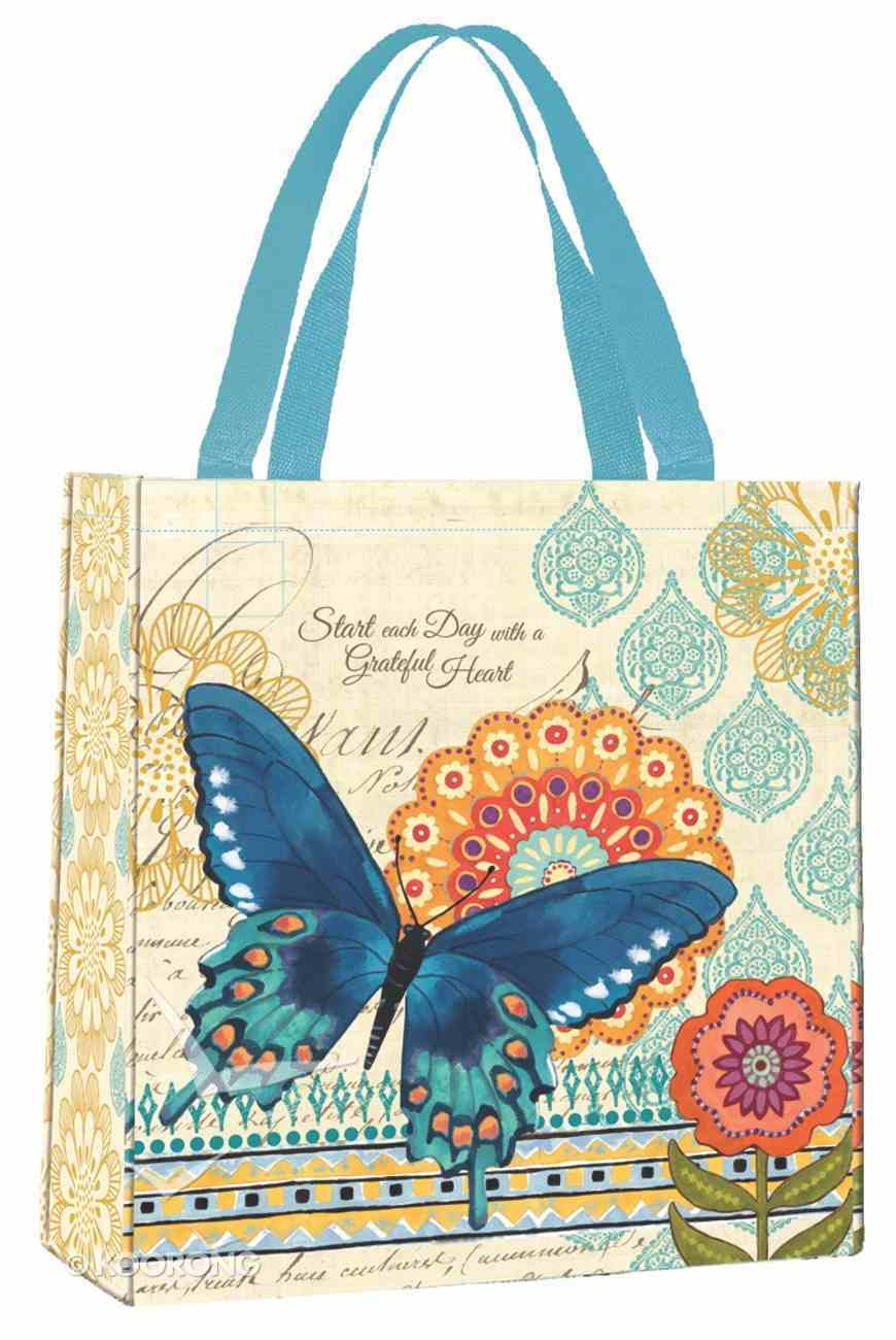 Bible Study Tote Bag: Grateful Heart (Blue Butterfly) Soft Goods
