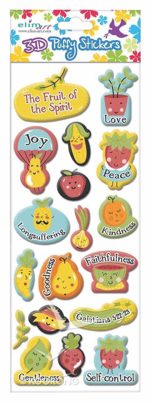 Puffy Stickers: The Fruit of the Spirit (1 Sheet Per Pack) Novelty