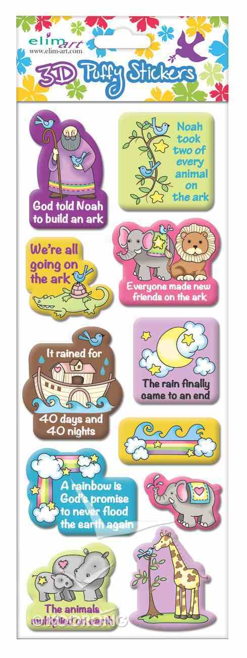 Puffy Stickers: Noah's Ark (1 Sheet Per Pack) Novelty