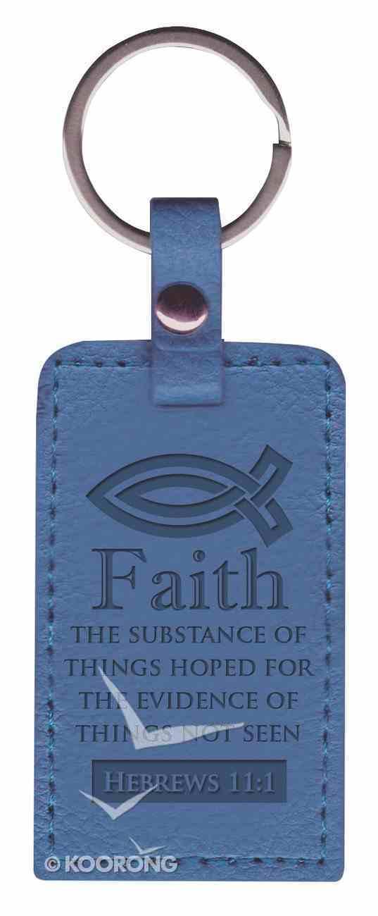Lux Keyring: Faith, Hebrews 11:1, Blue Jewellery