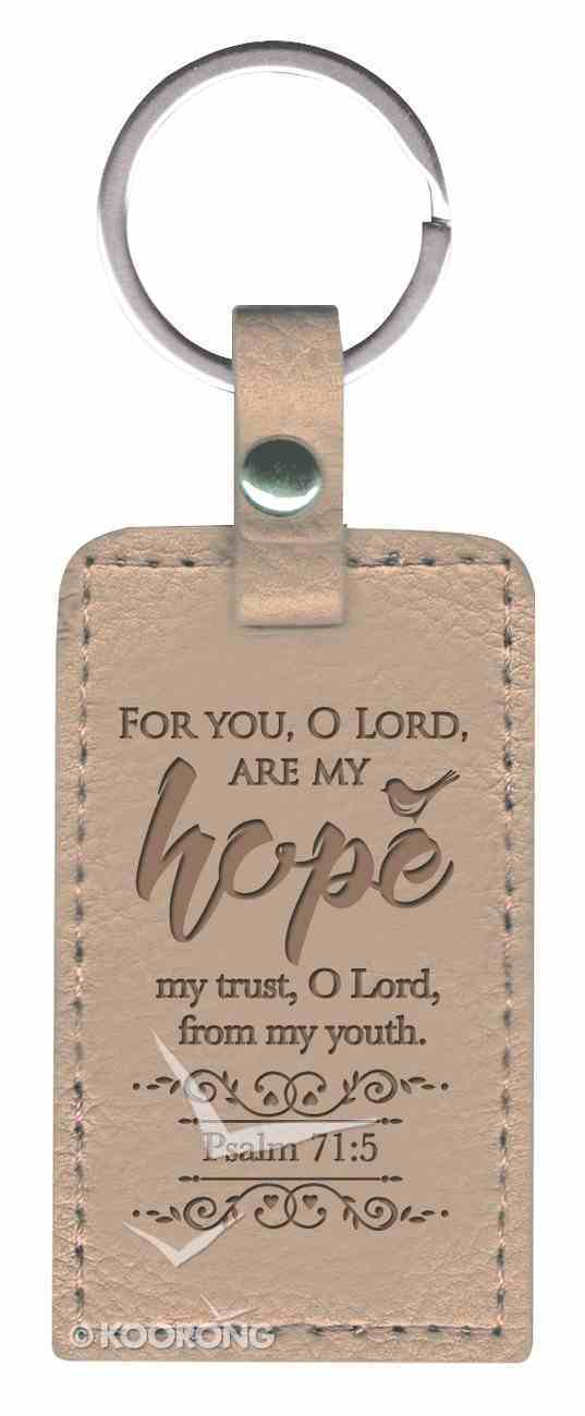 Lux Keyring: Hope, Psalm 71:5, Pearl Jewellery
