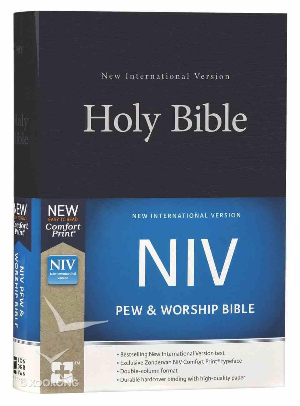 NIV Pew and Worship Bible Blue (Black Letter Edition) Hardback