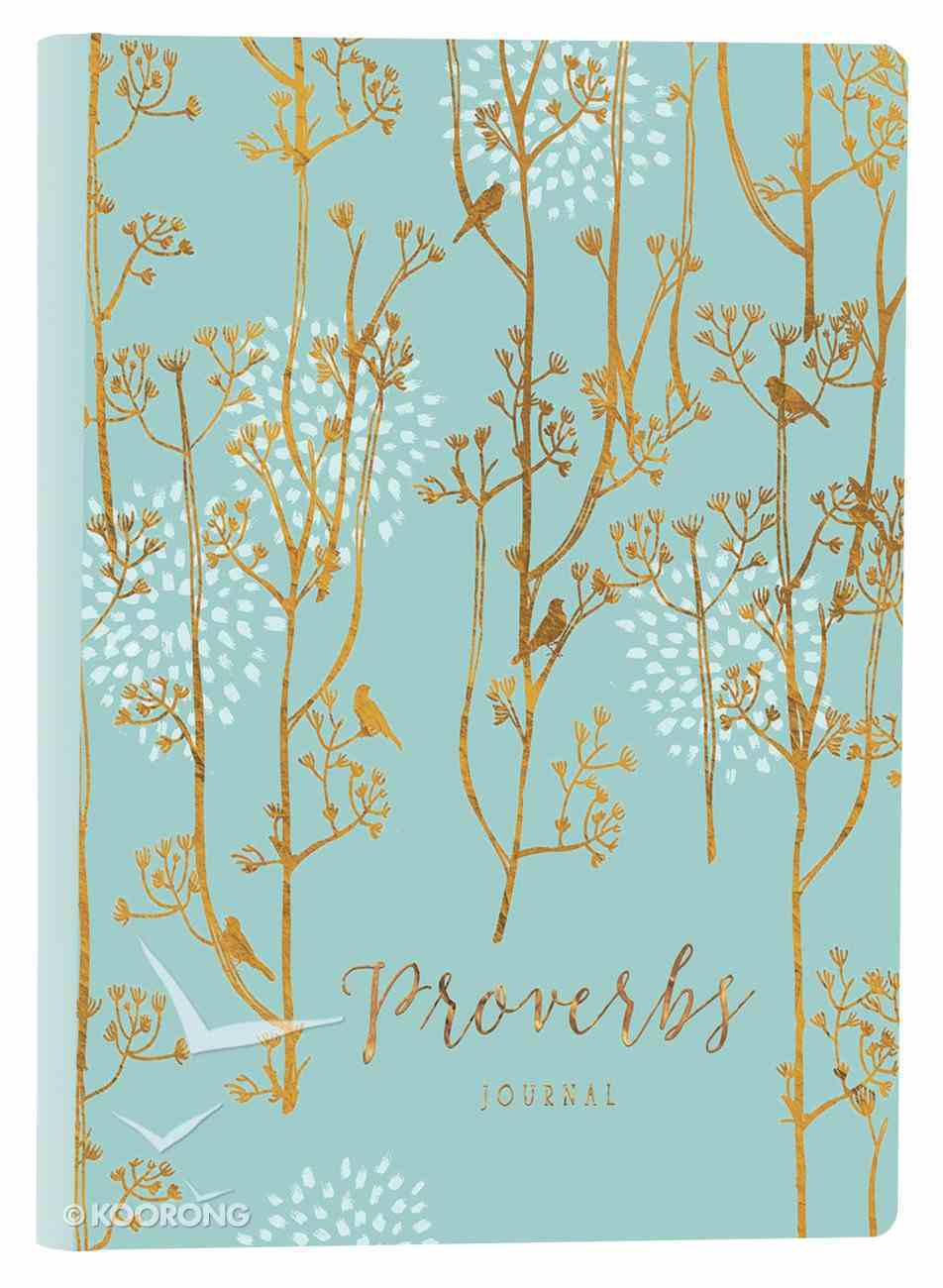 Journal: Proverbs (Leatherluxe) (Blue/gold) Imitation Leather